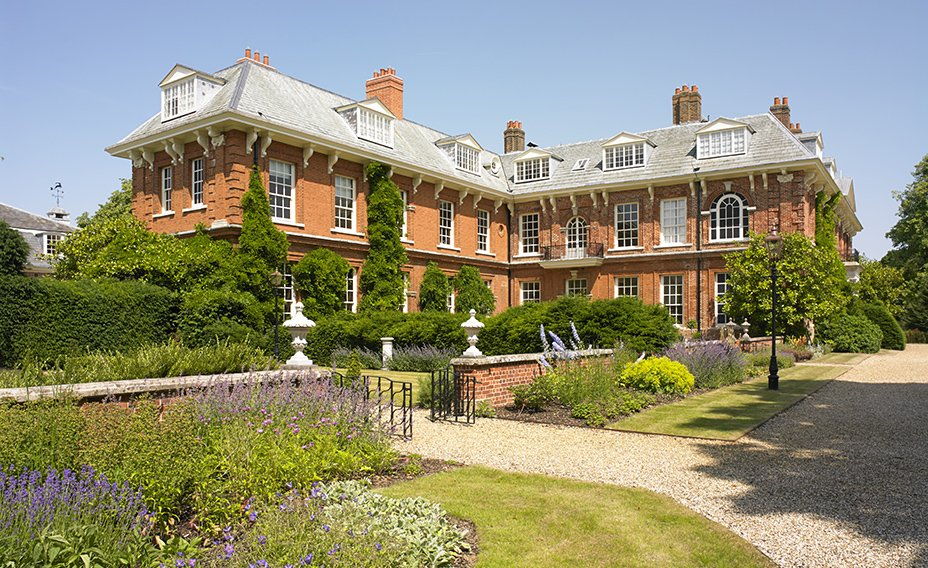 The landscaped gardens