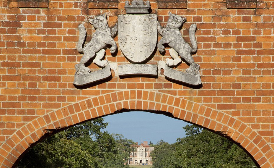 The coat of arms on the Gate Lodge